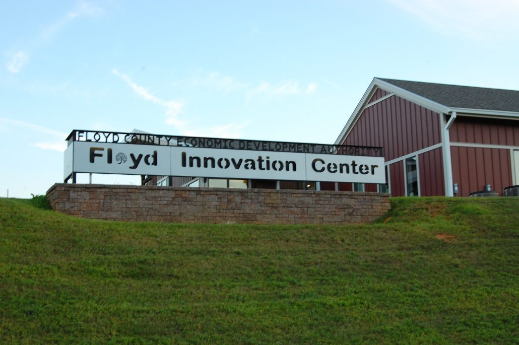 Outside the Floyd Innovation Center in Floyd County, VA.