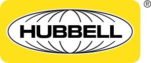 Hubbell Lighting yellow and black logo