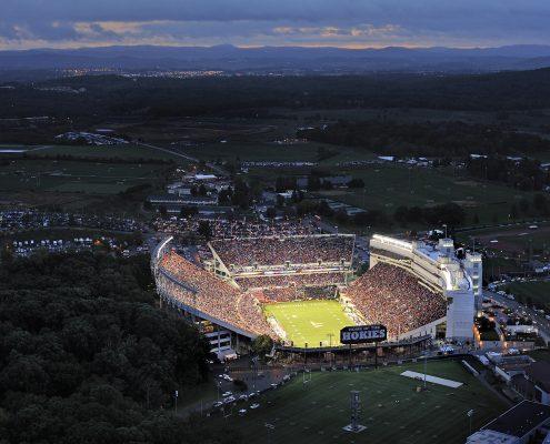 Lane Stadium in Blacksburg in Montgomery County, VA