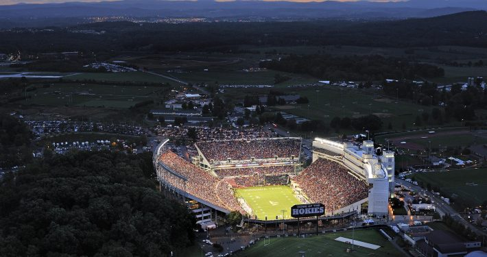 Lane Stadium in Blacksburg in Montgomery County, VA
