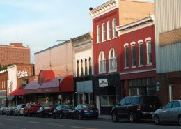Downtown Store fronts in radford virginia a safest city virginia