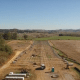 An aerial view of the Carilion New River Valley Solar Panel Field