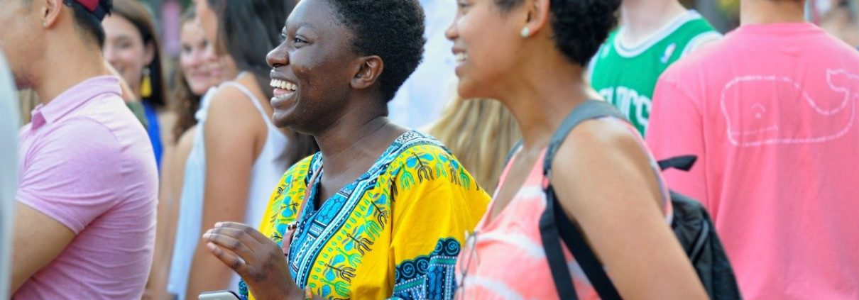 Women laughing and enjoying one of the outside events in the NRV.