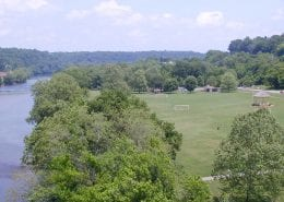 Bisset Park in the City of Radford, VA overlooks the New River and is home to soccer fields, tennis courts, and more