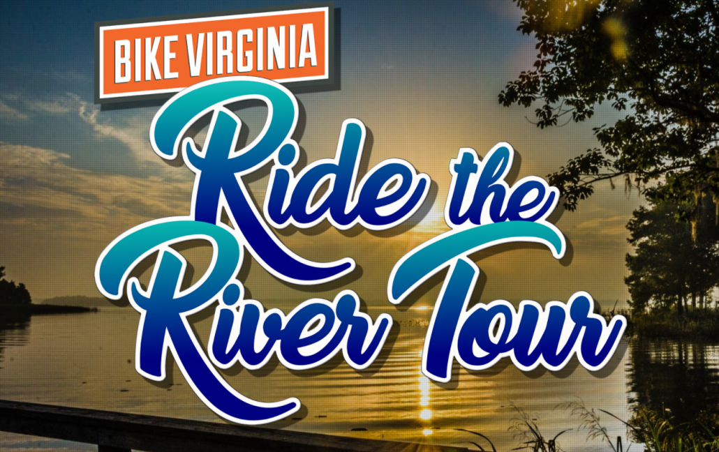 An image from the Bike Virginia website that says Ride the River for Bike Virginia in the NRV