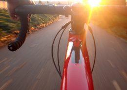 A point of view shot riding a bike, bike virginia nrv