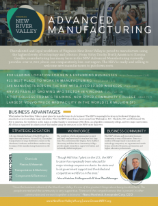 NRV Targeted Industry Brochure, Advanced Manufacturing