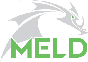 Aeroprobe MELD logo, a revolutionary manufacturing process for metal created at Aeroprobe in Virginias New River Valley