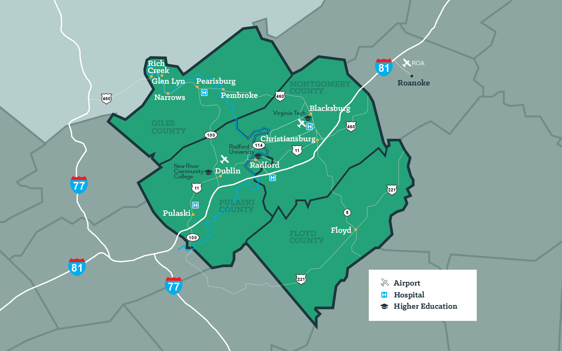Maps of Virginia's New River Valley