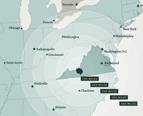 NRV Distances East Coast Map