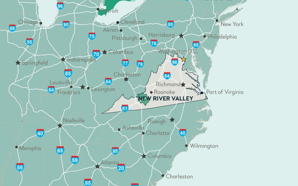 Regional Maps | Virginia's New River Valley