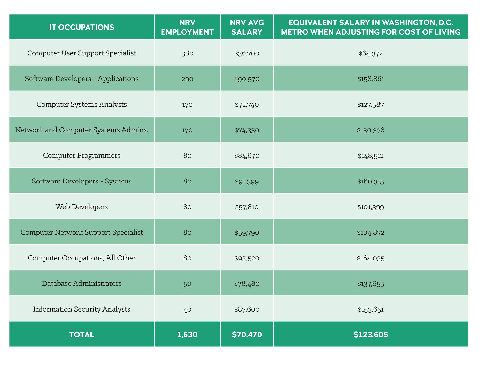 nrv salary; software developer; technology; new river valley