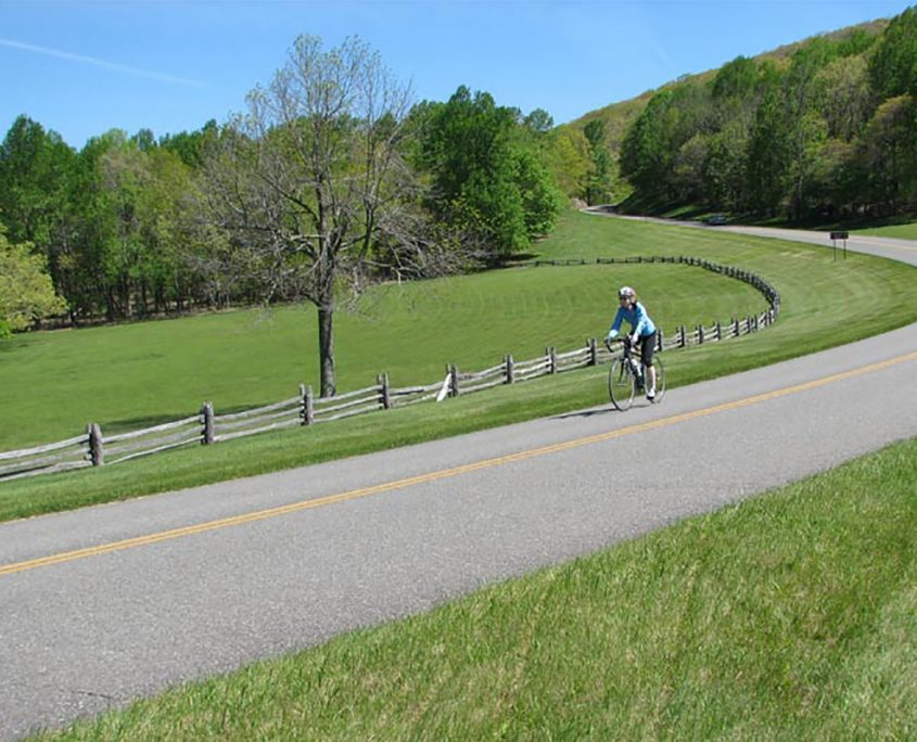 Biking on the Blue Ridge Parkway Outdoors in the NRV