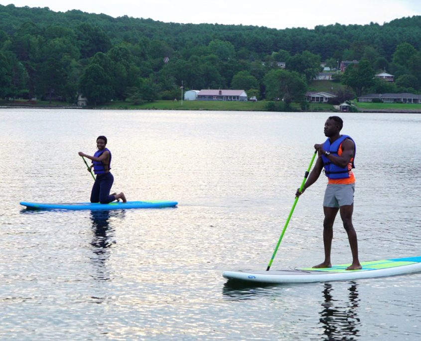 Paddleboarding at Claytor Lake Outdoors in the NRV