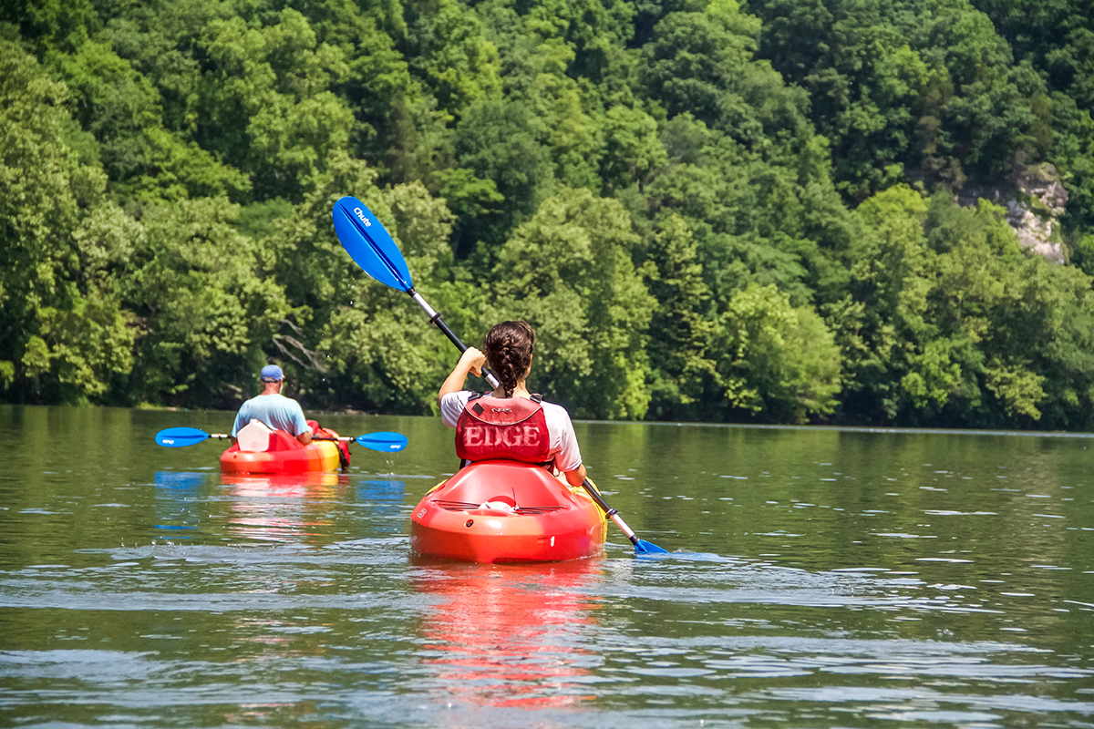 Outdoors in the NRV Kayaking