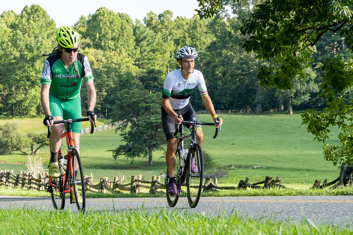 Outdoors in the NRV Road Cycling