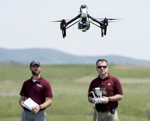 Drone Flying Virginia Tech Kentland Farm