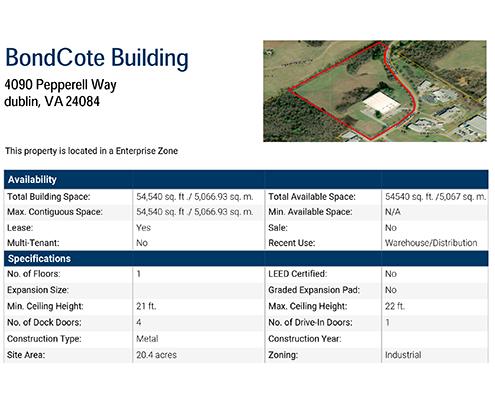 BondCote Building Data Sheet