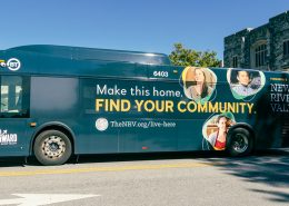 BT Bus Promoting the NRV Makes Its Premiere