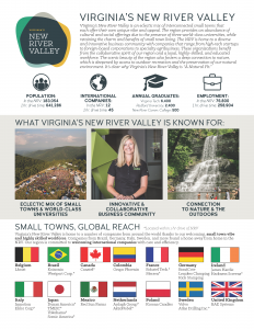 Virginia's New River Valley Regional Profile 2 Pager Thumbnail